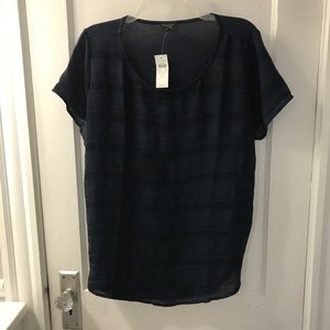 Ann Taylor Factory shirt blue L NWT